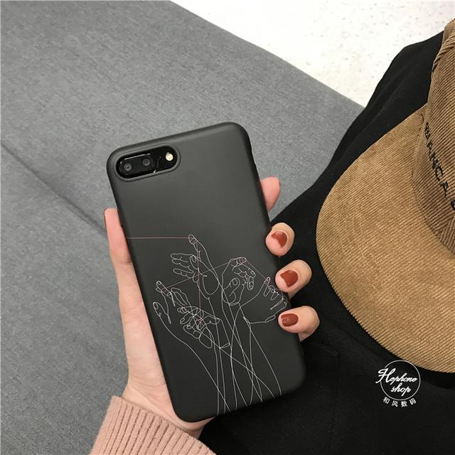 Pull Puppets Lines Phone Cases for iphone X 7 7Plus 8 8plus 6 6s 6Plus 6splus