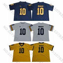 56659130547 Mens #10 Tom Brady Jersey Michigan Wolverines College Football Jersey Navy  Blue White Yellow Tom