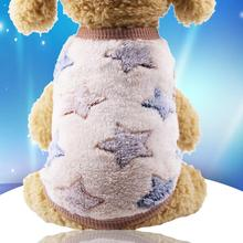 Multi-color Flannel Warm Cartoon Series Embroidery Dog Cat Pey Clothes
