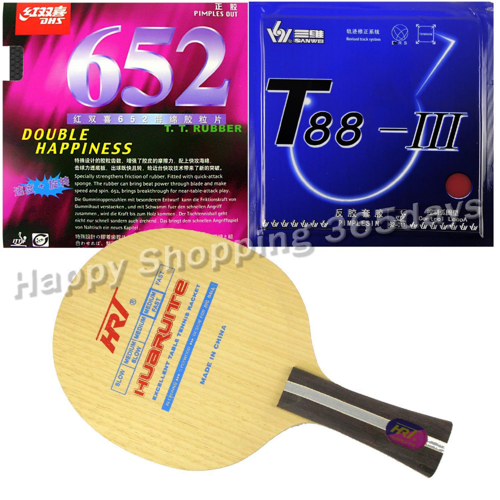 ФОТО Original Pro Table Tennis PingPong Combo Racket HRT 2077 with DHS 652 and Sanwei T88- III