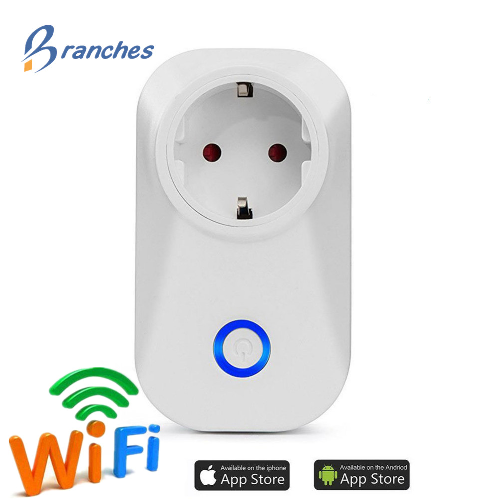 WIFI Smart Plug Switch Smart wifi Socket EU Plug Audio Control Smart Timing Socket Wireless Outlet Voice Intelligent Control wi fi enabled mini outlets smart socket control your electric devicsmart us plug wifi smart wireless socket m 16