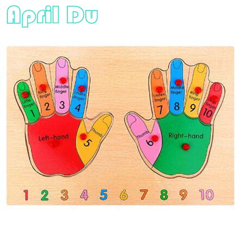 Апрель du Учим цифры вручную palm Интеллект головоломки левой и правой ноги дети Игрушечные лошадки