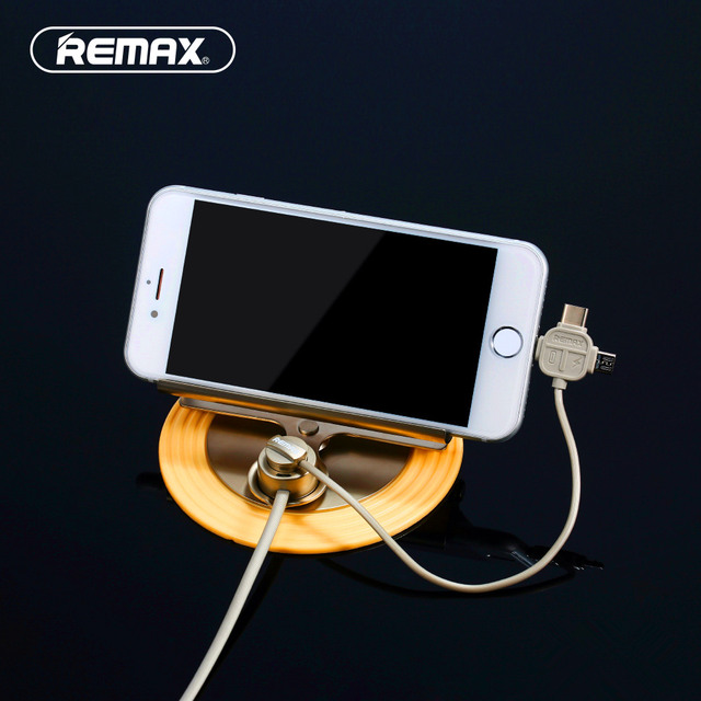 Remax Universal Car Phone Holder with 3 in 1 usb Magnetic charger cable for iPhone 5s 6 6s 7 Plus / Samsung Galaxy Type C phones