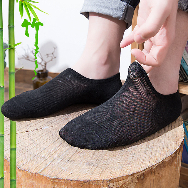 7f437fdb5ca69 3pairs Men Low Cut Ankle Socks Casual Soft Cotton bamboo fiber sock Loafer  Boat Non-Slip Invisible No Show Light and comfortable