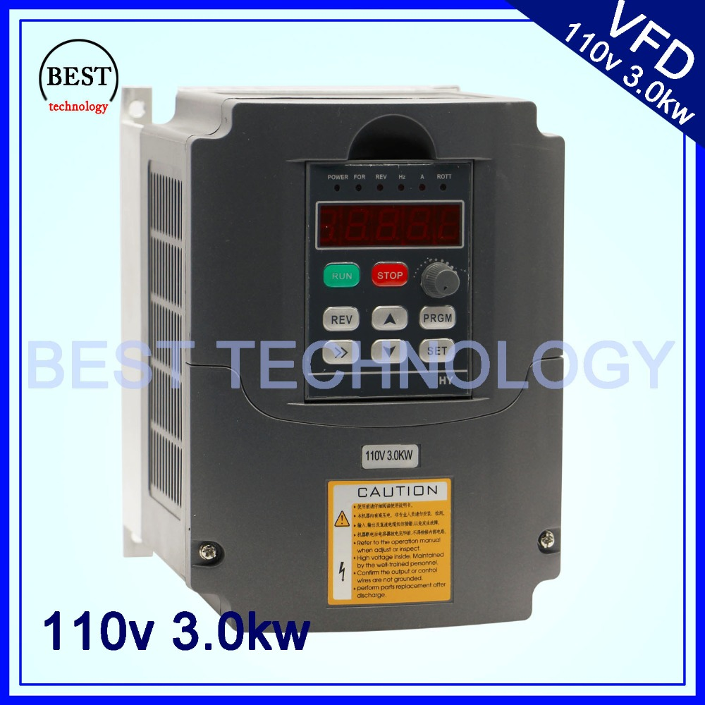 110 V 3kw VFD Variable Frequency Drive VFD /Inverter Input 1or 3HP 110V Output 3HP 110V for control cnc spindle motor speed 220v 5 5kw vfd variable frequency drive vfd inverter 3hp input 3hp output cnc spindle motor driver spindle motor speed control