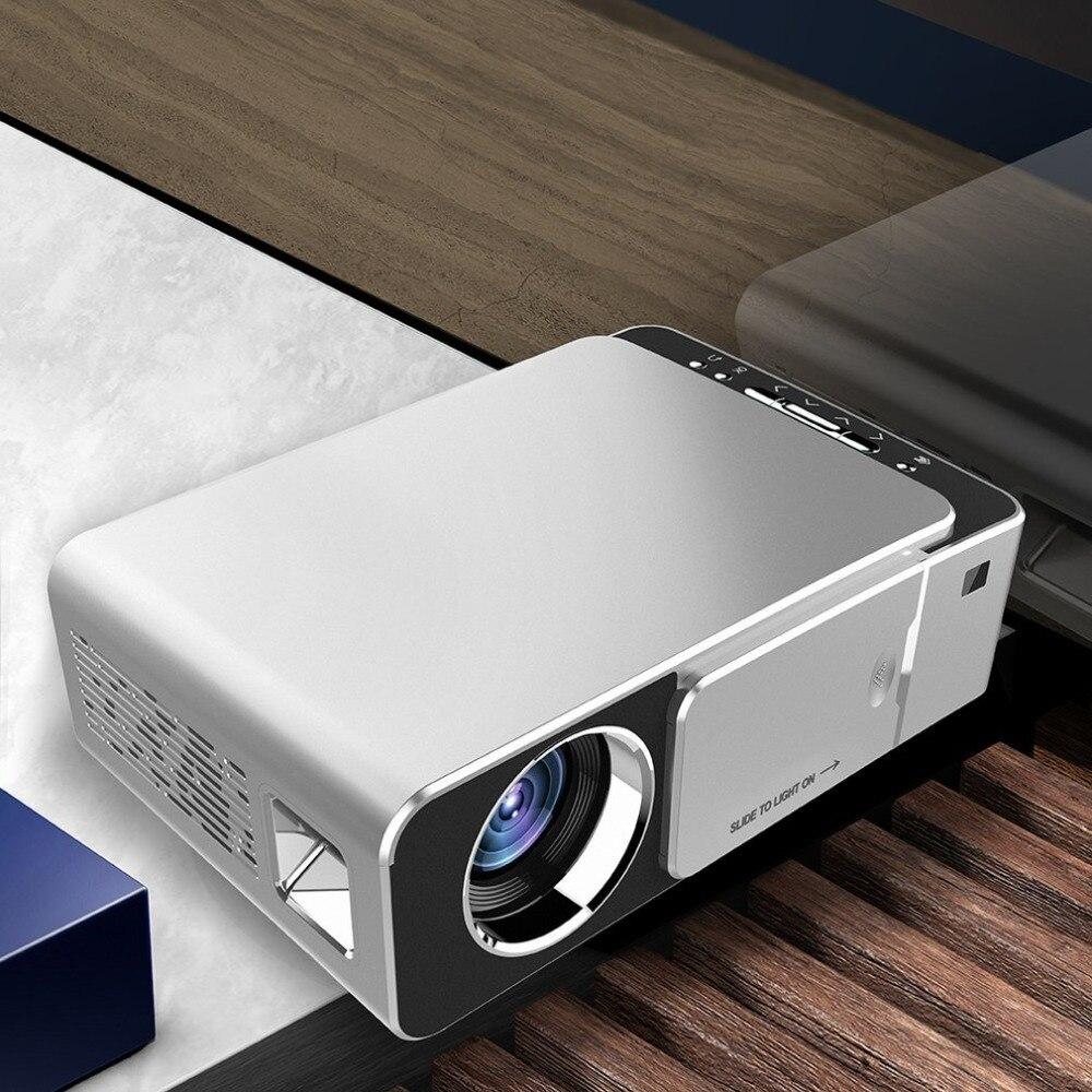 Proyector LED T6 HD 3500 lúmenes portátil HDMI USB soporte 4 K 1080 p Cine en Casa Proyector Beamer