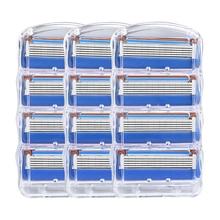 Giulietta Men 5 Layer Razor Blades Kompatibel Untuk Pria Perawatan Pribadi Harian Complacment Gillettee Fusion 12pcs / B