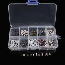 250 шт 10 типов Тактильный кнопочный сенсорный переключатель дистанционного ключа микропереключатель