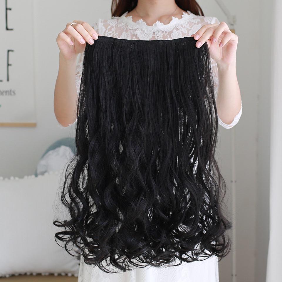 AOSIWIG Olika storlekar Långt vågigt 5 Klipp i hårförlängningar - Syntetiskt hår - Foto 3