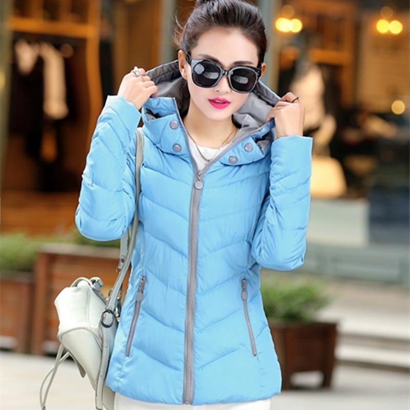 ZOGAA Warm Winter Jacket Women Fashion Cotton Padded Parkas Casual Hooded Long Coat Thicken Zipper Slim Fit Plus Size Long Parka in Parkas from Women 39 s Clothing