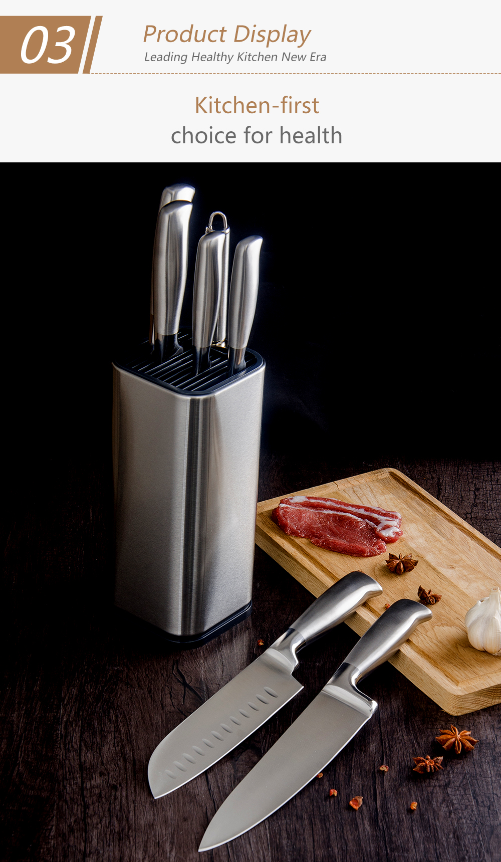 Knife Bags For Chefs Master Design Kitchen Knife Stand Stainless Steel Knife Block Knife Holder Fashion Kitchen Knife Partner