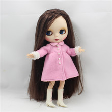 Neo Blythe Doll Elegant Pink Winter Coat