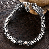Wholesale Genuine 100% Real Pure 925 Sterling Silver thick Men bracelet . Dragon Bracelet . free shipping men fine jewelry HYB03