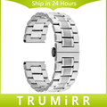24mm Stainless Steel Watchband for Sony Smartwatch 2 SW2 Smart Watch Band Butterfly Buckle Strap Replacement Bracelet Silver