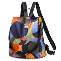 Moda Anti theft kobiety plecaki znane marki wysokiej jakości wodoodporny Oxford kobiet plecak damski plecak o dużej pojemności w Plecaki od Bagaże i torby na