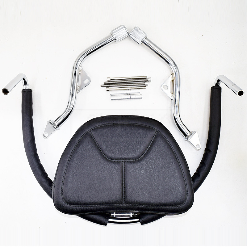 Motorcycle PU Leather Adjustable Driver Backrest Rider Seat Kit Accessories For Honda Goldwing GL1800 2001 - 2016 2017 GL 1800