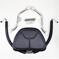 Motorcycle PU Leather Adjustable Driver Backrest Rider Seat Kit Accessories For Honda Goldwing GL1800 2001 2016 2017 GL 1800