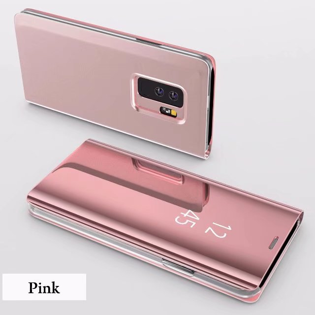 High Quality Luxury Plating Case For Samsung Galaxy S10 Clear Mirror Case For Note9 8 Hard PC Flip Cover For Samsung S8 S9 Plus
