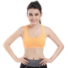Women Yoga Quick Dry Top Butterfly Back Padded Underwear Seamless Fitness Gym Running Sport Yoga Shirts Sports Bra 2017