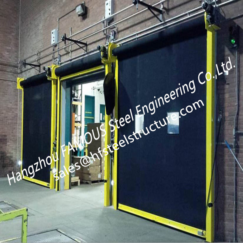 Overhead Roll Up Rubber Curtain Doors For Industry High Performance Rapid-roll Exterior Rubber Doors
