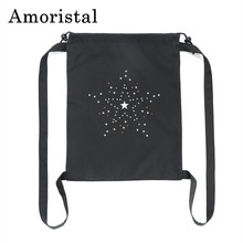 2019 Fashion Fabric Drawstring Bags Unisex Bag Large Capacity Casual School Bag Backpack Drawstring Bag Gifts Black 32*42cm B139