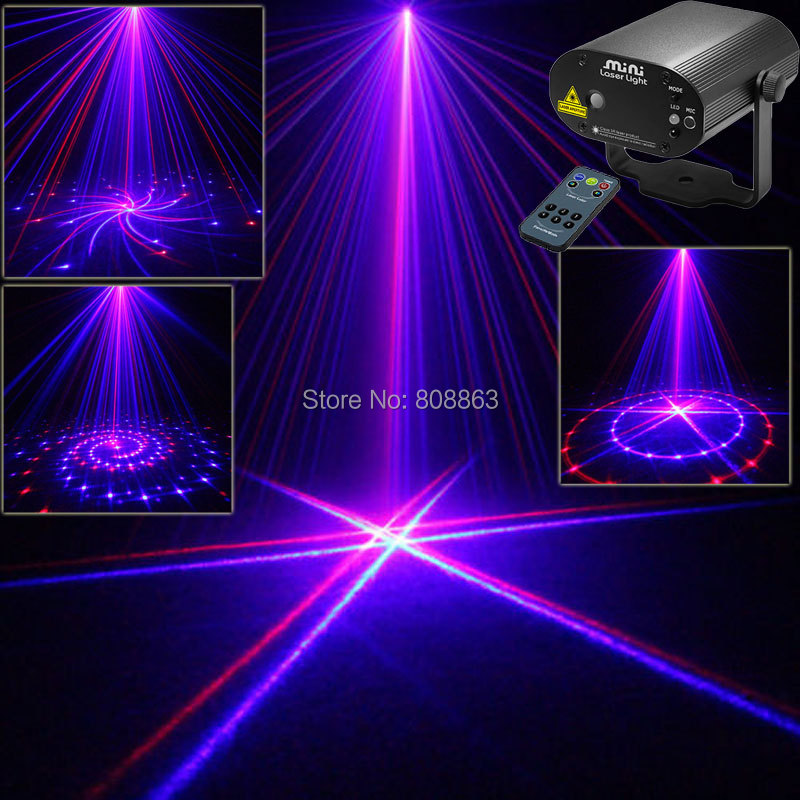 New 8 Patterns Blue 200mw projector Remote Red Laser Stage lighting Disco Dance Party Light Show system DJ business Lights cb8 mon hot sale projector dj disco light mp3 remote stage party christmas laser lighting show