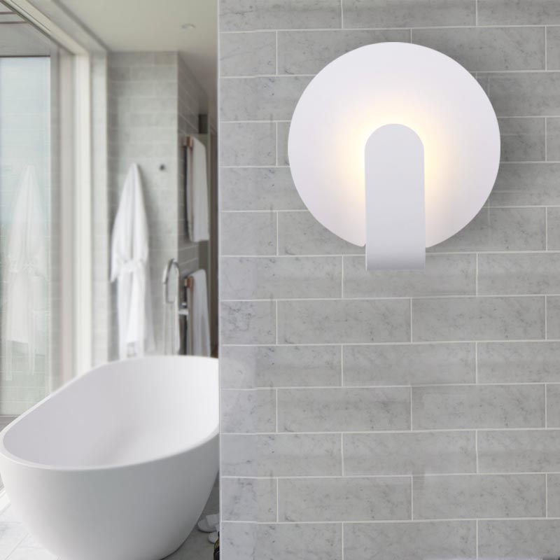 Minimalist Italy Wall Sconce Round/Square Design. 5W Led Wall Lamp bathroom mirror lights  hall/hotel/mall lighting engineeringMinimalist Italy Wall Sconce Round/Square Design. 5W Led Wall Lamp bathroom mirror lights  hall/hotel/mall lighting engineering