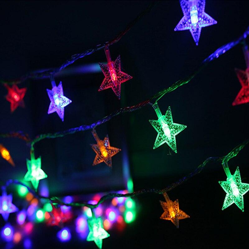 Led Star String Light 10M 70led AC220V EU Plug Colorful Holiday Led Lighting  Waterproof Outdoor Decoration Light Christmas Light