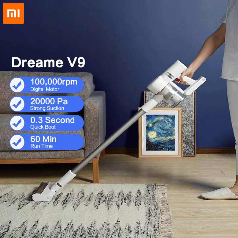 2019 Dreame V9P Handheld Cordless Vacuum Cleaner Portable Wireless Cyclone Filter Carpet Dust Collector Carpet Sweep for xiaomi