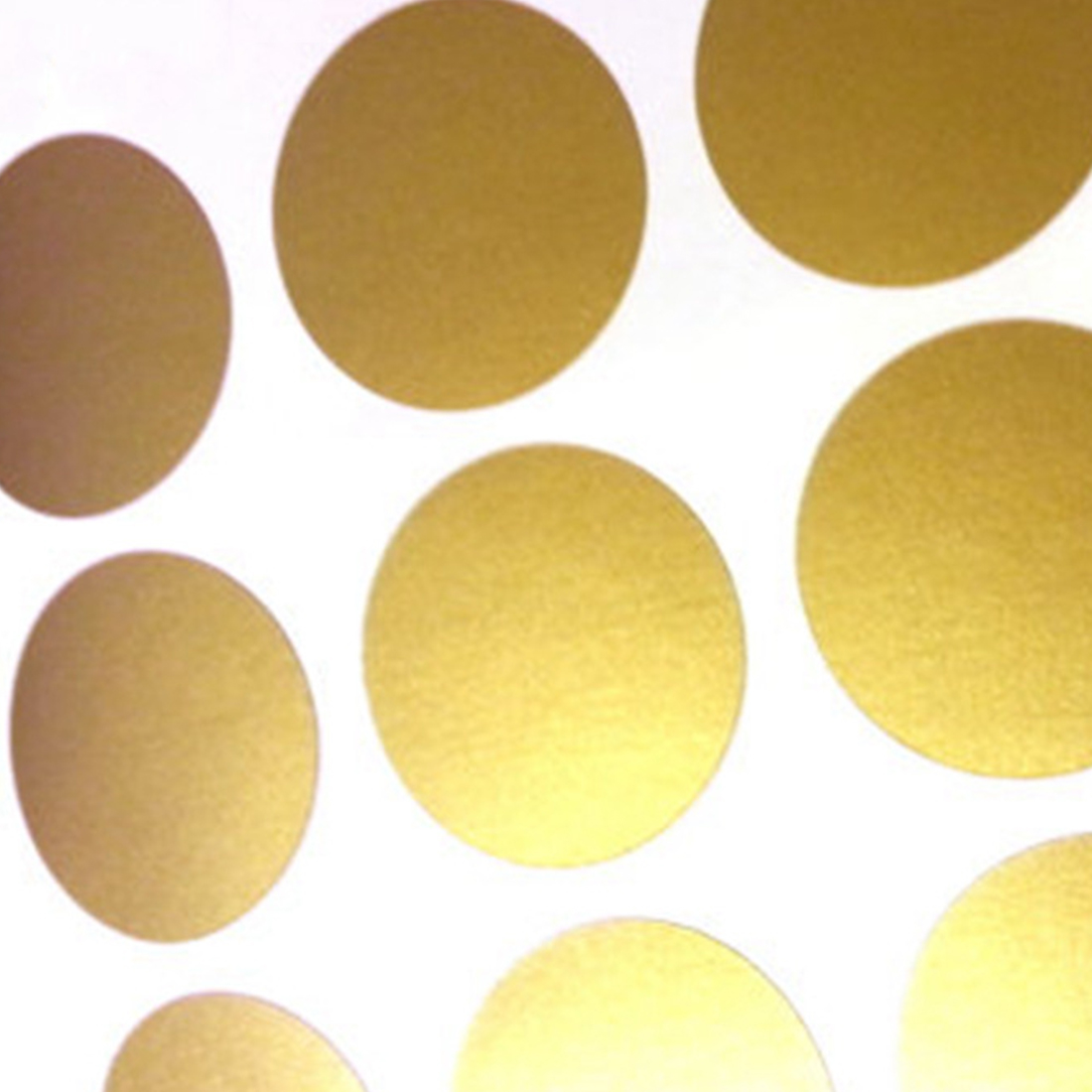Super Gold Polka Dots Wall Sticker Baby Nursery Stickers Kids ...