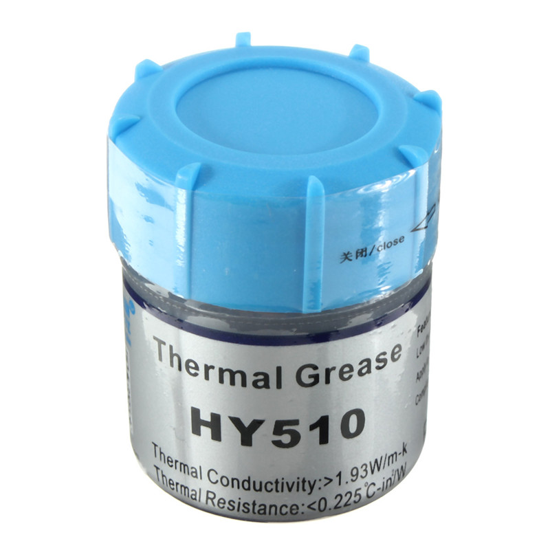 20g Grey For CPU VGA GPU Silicone Thermal Grease Paste Compound Conductive Plaster Heatsink LED Chipset Cooling PC Components 73w mk grizzly bear liquid metal for thermal grizzly conductonaut 1g diy silicon grease for cpu gpu graphics card easy to cool