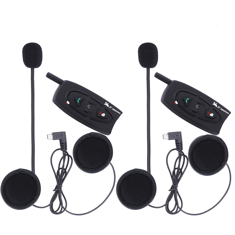 2 pcs/lot, 2 riders motorcycle helmet bluetooth intercom headset interphone 500m V2 Moto Communicator 2 pcs lot