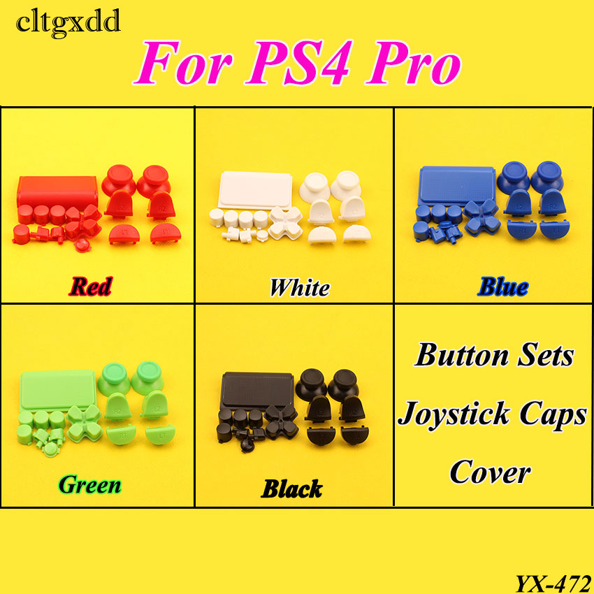 cltgxdd 5Sets For Play Station Dualshock 4 Pro Controller JDM-040 JDS 040 R2 L2 R1 L1 Trigger Button For PS4 Pro