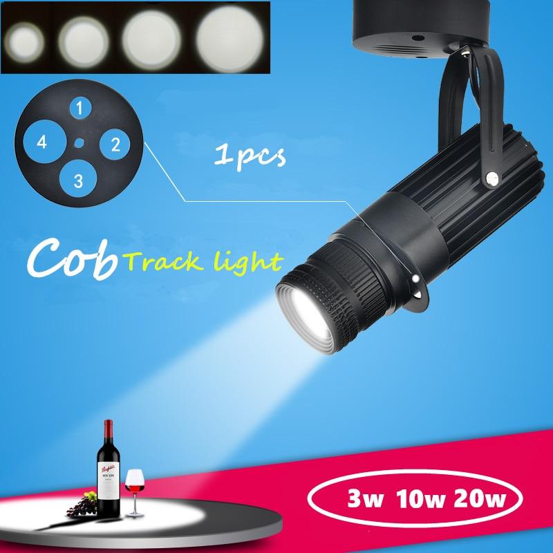 1pcs  Cob Spotlights Background  LED Track Light Lamp KTV  Bar  Restaurant  Cafe  Museum Zoom Light Lighting3w  7w 10w 15w 20w