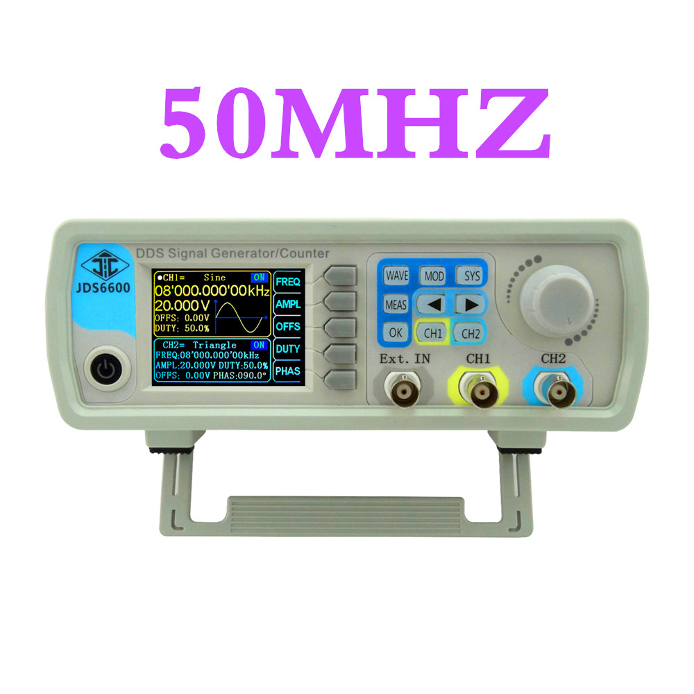 все цены на  JDS6600 Series 50MHZ DDS signal generator Dual-channel Control frequency meter function generator   43%OFF  онлайн