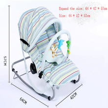 Free Shipping Baby Swing Bed 3 Colors Cradle Loading Weight 18 kg Material Metal Safety Fashion Style For Baby rocking chair