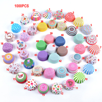 Wholesale 1000pcs Oil proof Paper Cupcake Muffin Cup Cake Forms Home Baking Tools Oevn Dessert Party Tray Cake Mold Kitchen Tool