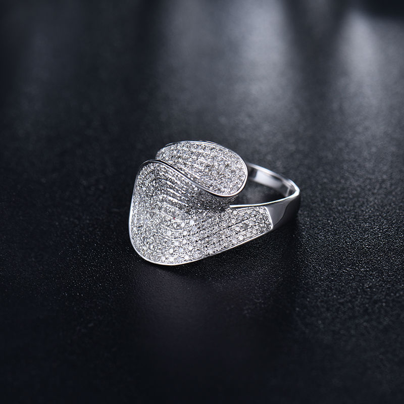 Best Gift Vintage Real Diamond Ring,Engagement Ring In Solid 14Kt White Gold Hot Sale G090422A