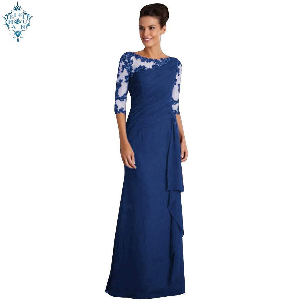 Ameision robes de soirée longues 2019 élégant a-ligne dentelle demi manches Sexy grande taille bordeaux robes de soirée formelles