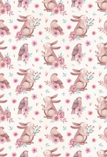 Newborns Easter Painted Rabbit Birds Photography Backdropsvintage Spring Photoshoot Background For Studio XT
