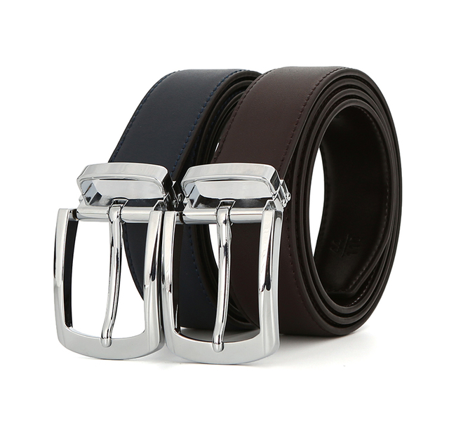 2017 New Arrivals Men Genuine Leather Belt Cowhide Cowboy Belt Straps With Alloy Pin Buckle Coffee Blue Color Leather Strap