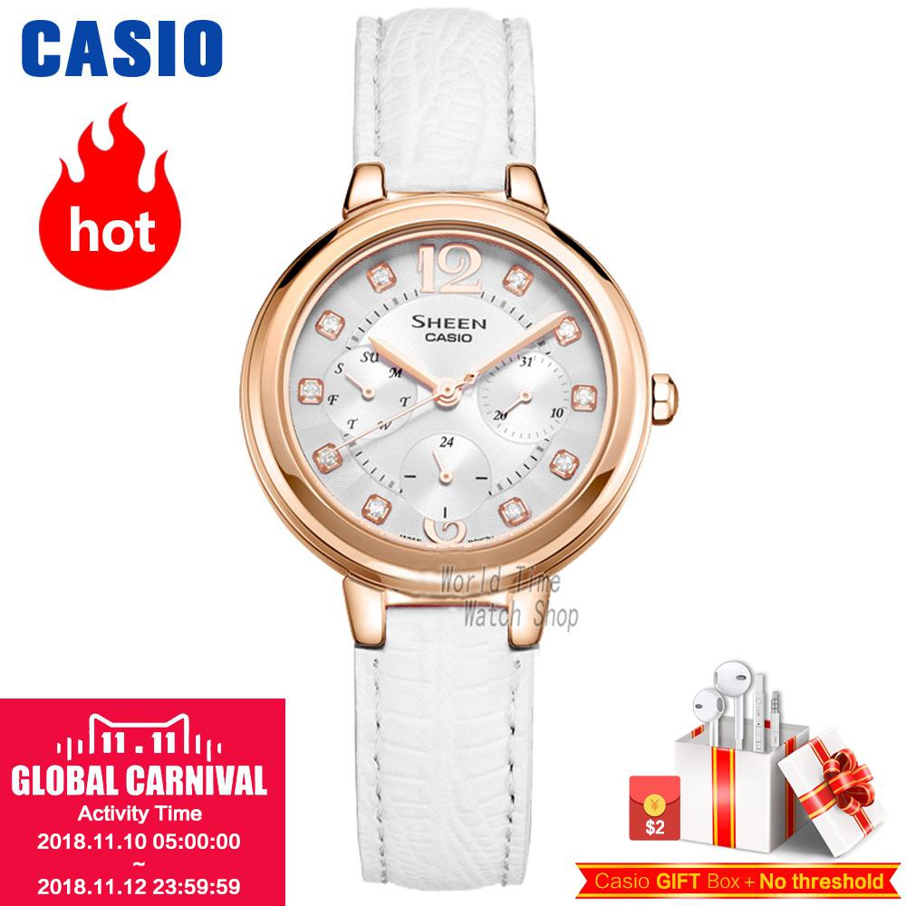 Casio watch waterproof quartz watch SHE-3048PGL-6A SHE-3048PGL-7A casio she 4022d 7a