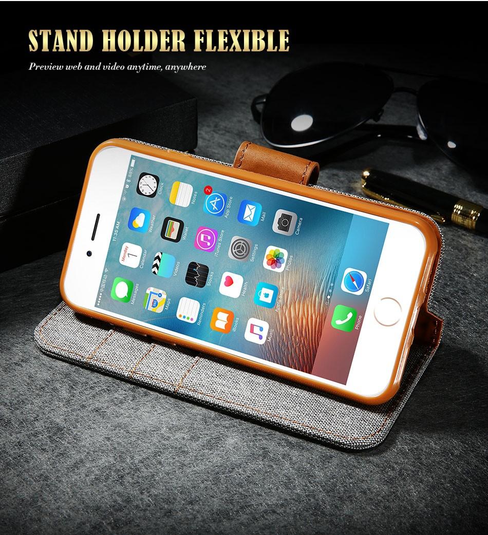 Kisscase stań portfel przerzuć przypadki dla iphone 6 6s 7 5 5S mody hit kolor slot kart skóra pokrywa dla iphone 7 6 s plus z logo 7