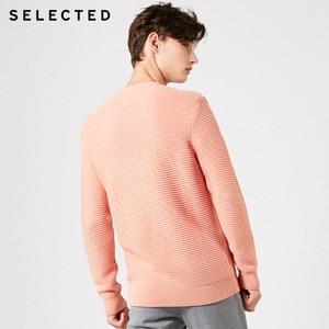 Image 4 - נבחר גברים של 100% כותנה עגול מחשוף סוודרי החורף חדש רגיל Fit סרוג סוודר S