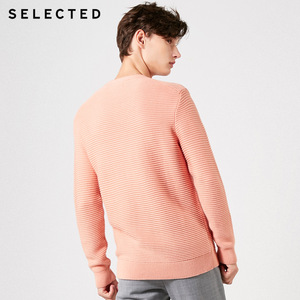 Image 4 - SELECTED Mens 100% Cotton Round Neckline Pullovers Winter New Regular Fit Knitted Sweater S