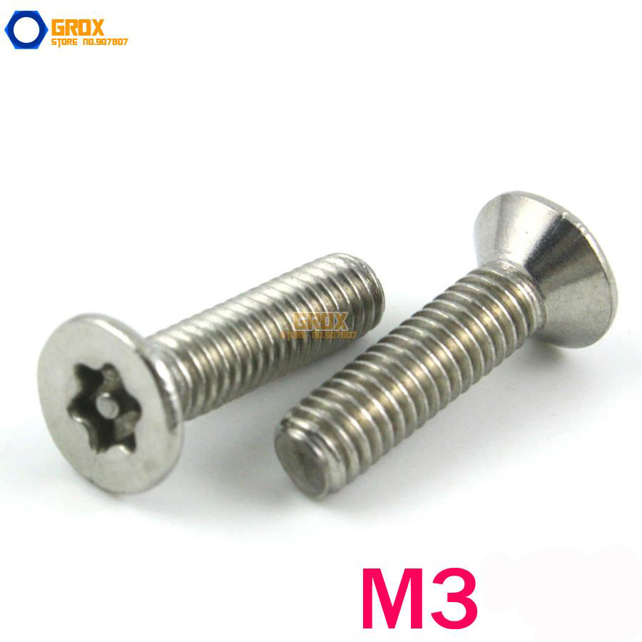 M3 304 Stainless Steel Security Torx Flat Head Machine Screw тени для век essence my must haves eyeshadow 11 цвет 11 stay in coral bay variant hex name d48176
