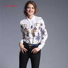 Fairy Dreams Women Shirt Print White Blusas 2017 New Arrival Spring Summer Style Blouse Office Ladies Fashion Plus Size Clothing