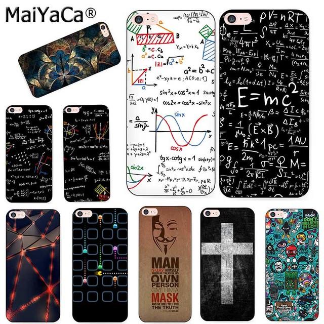 MaiYaCa silicone case For iPhone7 5s 6s 7 plus E=mc2 Mathematical equation Physical formula Phone Case Accessories Cover coque