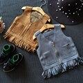 Vest Cotton Children Baby Girl Fashion Girls Tassel Vest  Spring/Autumn Baby Infant Girl Fringed Suede Vests Kids Waistcoat