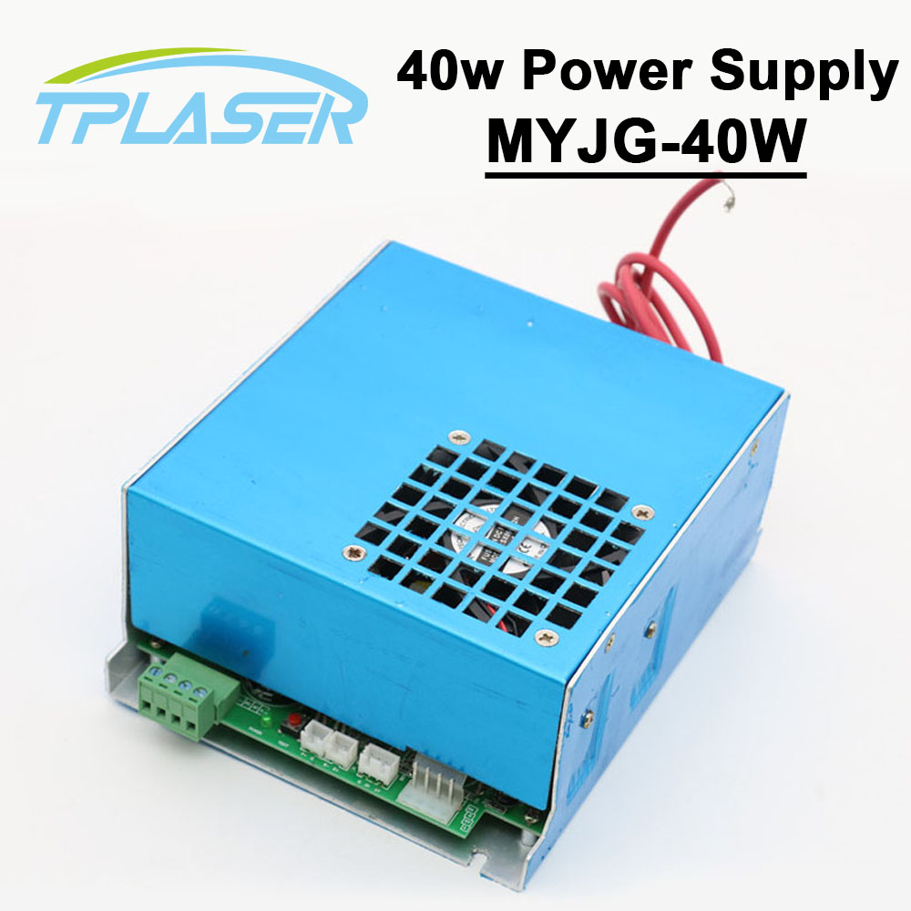 40W CO2 Laser Power Supply MYJG-40 for CO2 Laser Engraving Cutting Machine 25-50W 50w co2 laser power supply for co2 laser engraving cutting machine myjg 50w